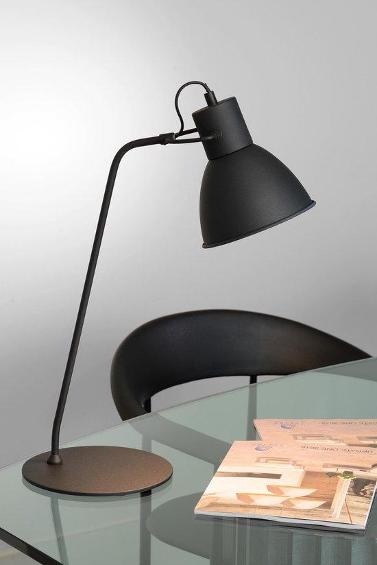 Lucide SHADI - Bureaulamp - Ø 20 cm - 1xE14 - Zwart - Lucide
