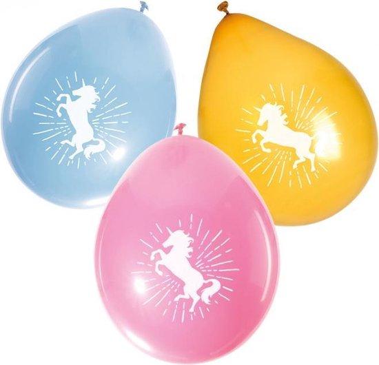 Boland Ballonnen Eenhoorn Latex 25 Cm 6 Stuks
