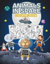 Animals in Space Coloring Book for Kids