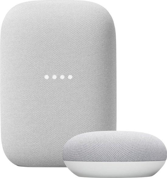 Google Nest Audio + Nest Mini bundel - Chalk