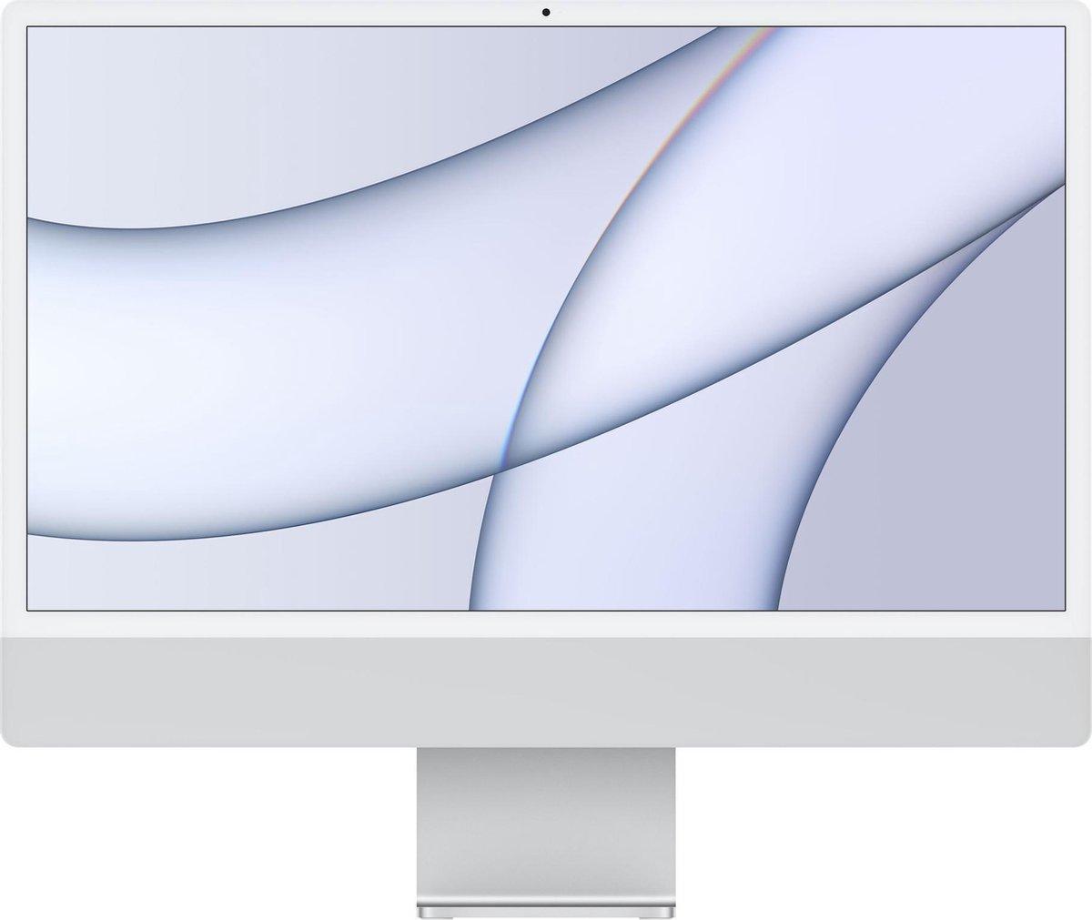 Apple iMac 24 inch (2021) - 8GB - 256GB - 7 core GPU - M1 - Silver