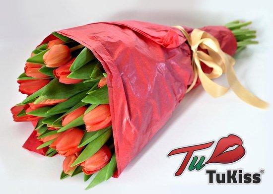 Tukiss tulpen - Bloemen - Rood - 30 stuks - Bloemen boeket - Cadeau