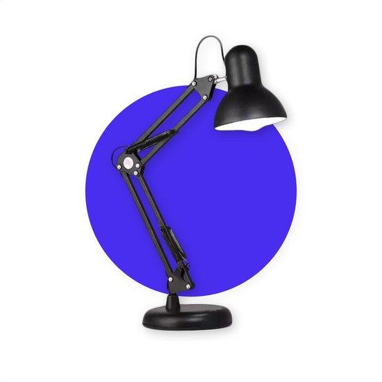 SensaHome Bureau Lamp - Industriële Vintage Retro Design - Tafellamp/Leeslamp/Nachtlamp - Draai- als Kantelbaar - E27 Fitting - Inclusief Lichtbron en Statief