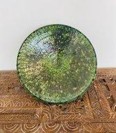 Tamegroute fruitschaal | Groen | Marokkaanse Aardewerk Groen | Diameter 30