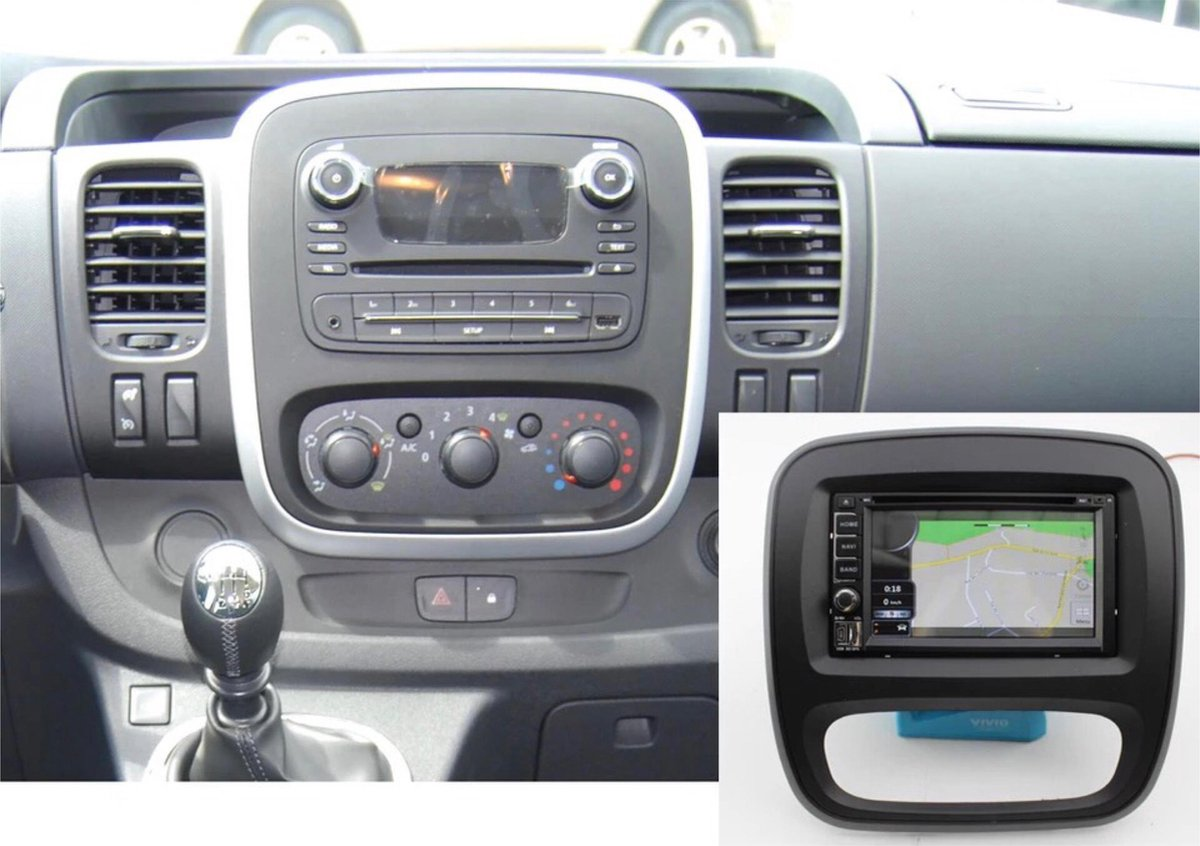 Opel Vivaro 2015-2019 Renault Trafic 2014-2021 1+16GB Android 10 navigatie en multimediasysteem Bluetooth USB WiFi