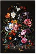 Graphic Message - Schilderij op Canvas - Vaas met Bloemen - Jan Davidsz de Heem - Woonkamer Kunst
