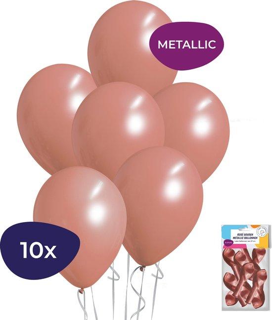 Rose Goud Ballonnen - 10 stuks - Metallic Ballonnen - Rose Goud Versiering