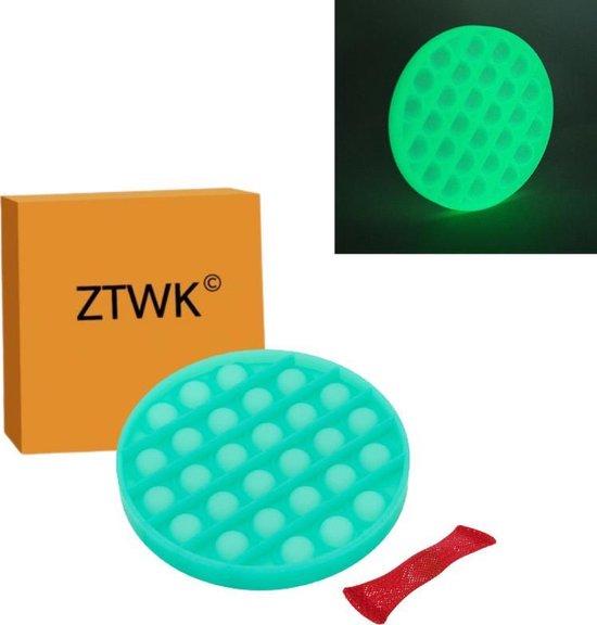 ZTWK© - Fidget toys pop it - glow in the dark groen - Fidget toys + 1 pea popper - groen - ZTWK©