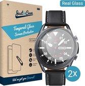 Samsung Watch 3 screenprotector - 45mm - 2 pack - Gehard glas - Transparant - Just in Case
