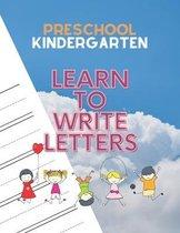 Preschool Kindergarten Learn To Write Letters