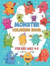 Monster Coloring Book For Kids Ages 4-8