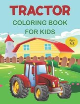 Tractor Coloring Book For Kids Ages 4-8