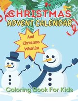 Christmas Advent Calendar Coloring Book For Kids