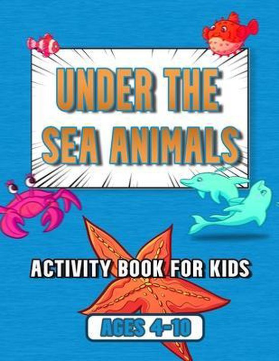 under the sea animals activity book for kids