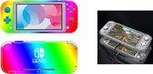 Nintendo switch lite case /screen protector/ regenboog sticker