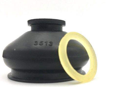 fuseekogelhoes stofkap 2 stuks universeel met vulcollan elastiek voetmaat 35 mm en kopmaat 13 mm