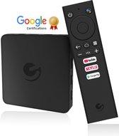 Nieuwste 2021 Ematic Android Smart TV Box 4K-Google & Netflix gecertificeerd- Bluetooth connectie-Voice control-Ingebouwde Google Assistent-2.4GHz wifi
