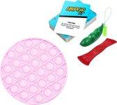 ZTWK®️ - Glow in the dark - Pop it fidget toy - Special edition - roze