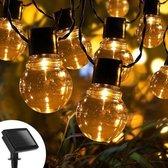 Lichtsnoer - Tuinverlichting Led Buiten - Zonne-energie - 6M - 10 LED - Waterdicht - Lichtsnoer Buiten - Extra Lang - Lichtslinger - Sfeerverlichting - Buitenverlichting