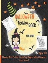 Halloween Kids Activity Book: Ages 4-8