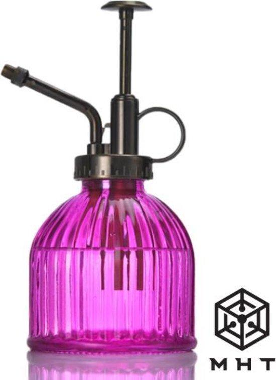 Plantenspuit - Paars - Glas - Vintage - Spray - MHT - 6 Kleuren - Water Verstuiver