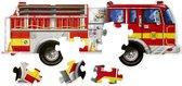 Melissa & Doug Vloerpuzzel Brandweerauto (24 stukjes, 1,20 m lang)
