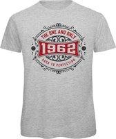 1962 The One And Only   Feest Kado T-Shirt Heren - Dames   Antraciet - Donker Rood   Perfect Verjaardag Cadeau Shirt   Grappige Spreuken - Zinnen - Teksten  