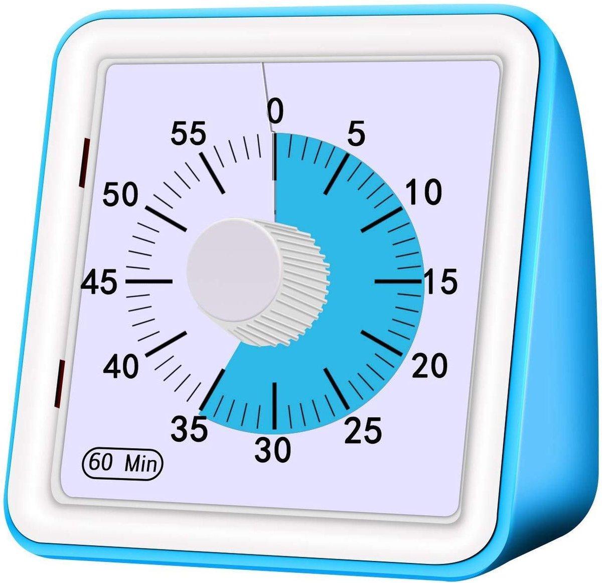 Timer - Blauw - Kind - 60 minutes - Leerklok -