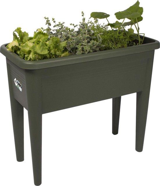Elho Green Basics Kweektafel Xxl - Plantenbak voor Buitenkweken En Oogsten - Ø 75.5 x H 65.1 - Blad Groen