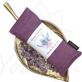 YoZenga oogkussen met Amethyst & biologische lavendel | kristallen/edelstenen |Kleur: Lavenderblush | Ideaal bij hoofdpijn & stress klachten | Meditatie | Ontspanning | Yoga