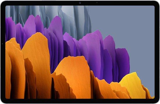 Samsung Galaxy Tab S7, Android tablet met pen, WiFi, 3 camera's, grote 8.000 mAh batterij, 11,0 inch LTPS-display, 128 GB/6 GB RAM, tablet in zilver