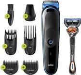 Braun MGK5245 7-in-1 Trimmer Baardtrimmer Voor Mannen - Gezichts- En Haartrimmer - Zwart/Blauw