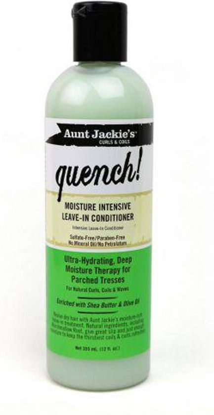 Aunt Jackies Curls & Coils Quench Moisture Intensive Leave in Conditioner - 355 ml