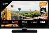 Hitachi 22HE4002 SMART Wifi 22 inch 56cm Full HD LED TV DVB-S2/C/T2 - 12V en 220V