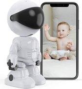 Multifunctionele Babyfoon met Camera & Audio - App Functie - Geluid en Bewegingsdetectie - 1080P - Camera Beveiliging - Huisdiercamera - Nachtzicht - Tweerichtingsgesprek - Baby Monitor - Compatibel met iOS- en Android-systeem - Upgrade 2021