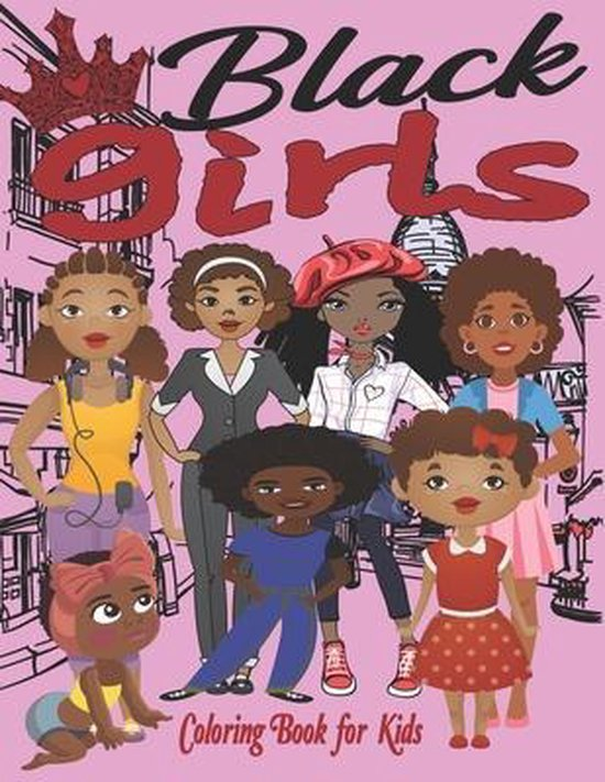 Black Girls Coloring Book for Kids