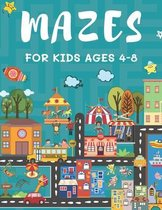 Mazes for Kids Ages 4-8: 150 Maze Puzzle Book for Kids Ages 4-6, 6-8 Easy to Hard - Maze Activity Book for Kids