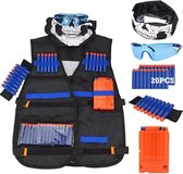 N-Strike Elite set - Geschikt voor NERF - Tactical Vest - Kinderspeelgoed - Set - Zwart