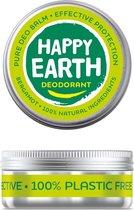Happy Earth Pure Deodorant Balm Bergamot 45 gr - 100% natuurlijk