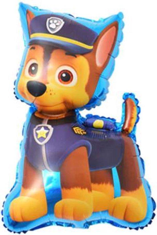 Chase Ballon - 80x45cm - Paw Patrol - Paw Patrol Chase - 80x45cm - Folie Ballon - Themafeest - Verjaardag - Versiering - Ballonnen - Helium ballon - Leeg