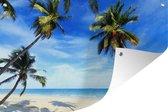 Tuinposter - Palmbomen - Strand - Zee - 180x120 cm - XXL