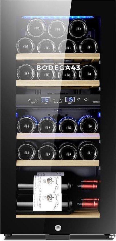 Koelkast: BODEGA43-22 - Luxe wijnkoelkast - 22 flessen, van het merk BODEGA43