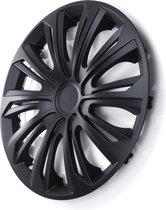 """STRONG wieldoppen16 """"  mat Toepassing: STALEN WIELEN 16 inch - Set van 4 stuk - Zwart"""