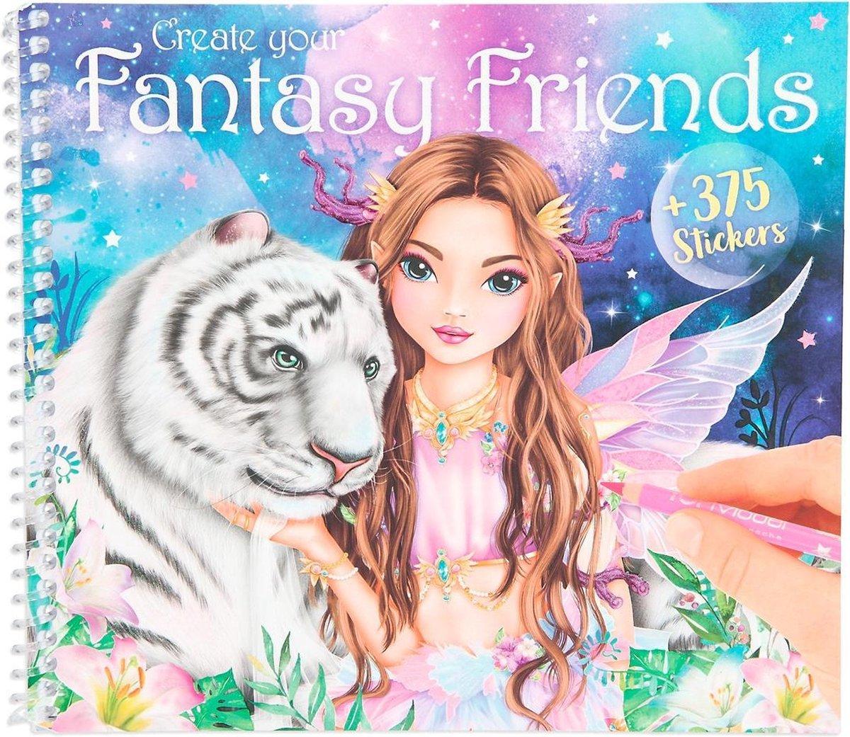 Top Model Kleurboek Fantasy Friend Meisjes 18 X 20 Cm Papier