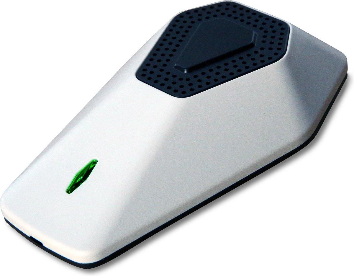 DISIbox – Persoonlijk en Mobiele desinfectie – Mini Luchtreiniger met drievoudige werking effectief tegen Hooikoorts, Pollen, Virussen en Bacteriën – UVC LED, Nano filter en Ionisator