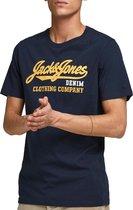 Jack and Jones - Heren Tee SS Essential Logo Shirt - Blauw - Maat XL