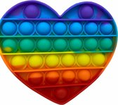 Pop it - hart - fidget toys - popit - regenboog - rainbow hart - rainbow