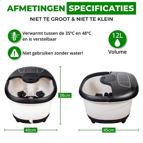 tGenot   XXL Massage Voetenbad - 12L - Automatische Voetmassage - Tot 48°C Verwarming