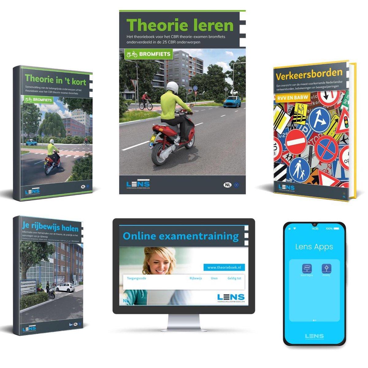 Scooter Theorie Boek 2021 Compleet pakket - Brommer Rijbewijs AM  - Met Theorieboek, Online, Samenva