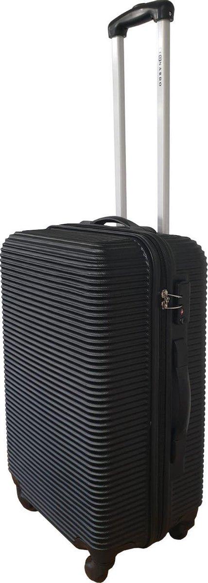 Medium Reiskoffer - TSA Douane Slot - ABS 59Liter - Hardcase - 4 Zwenkwielen - Reistrolley - Lichtge